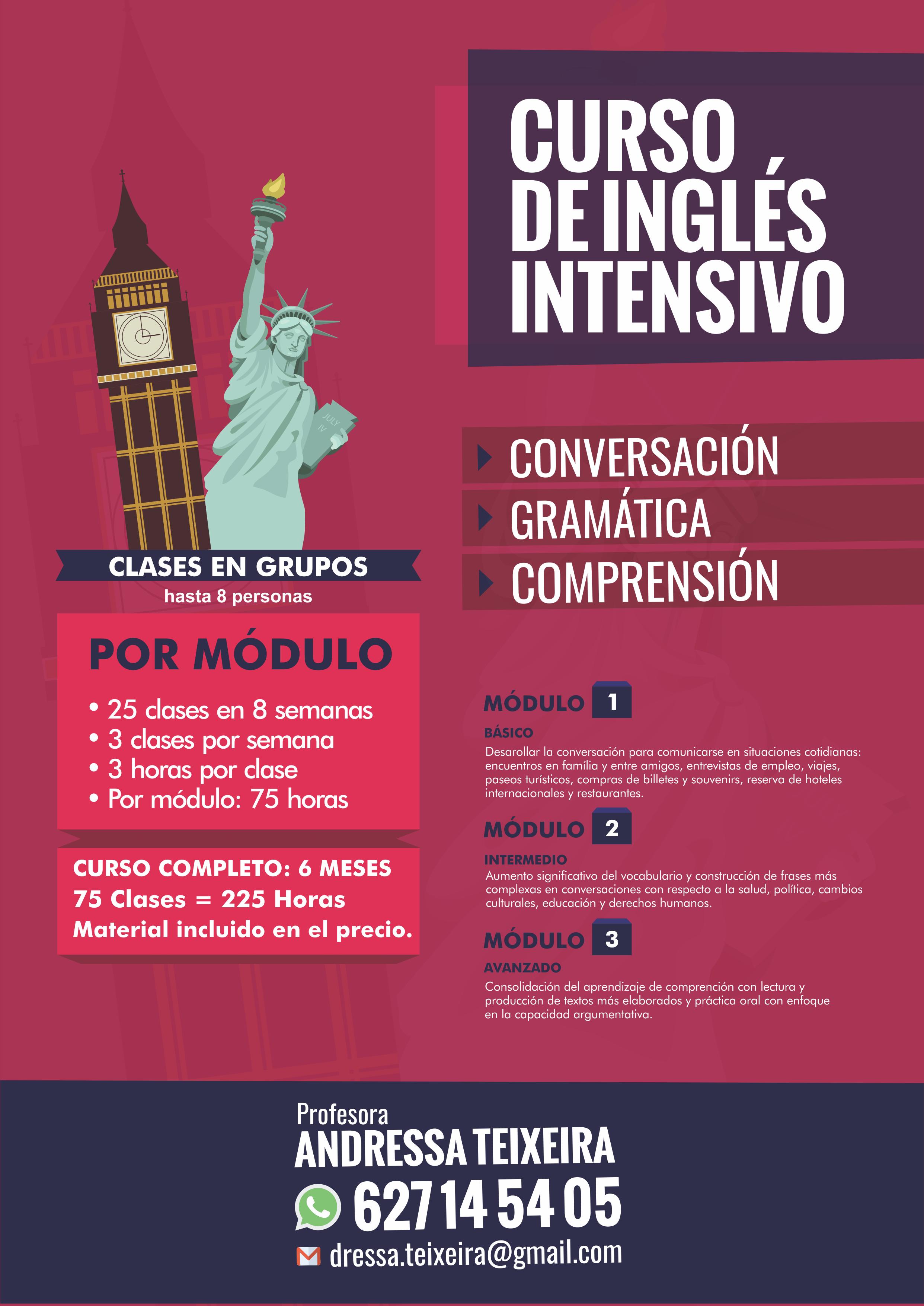 Curso Intensivo de Inglés - Prof. Andressa Teixeira