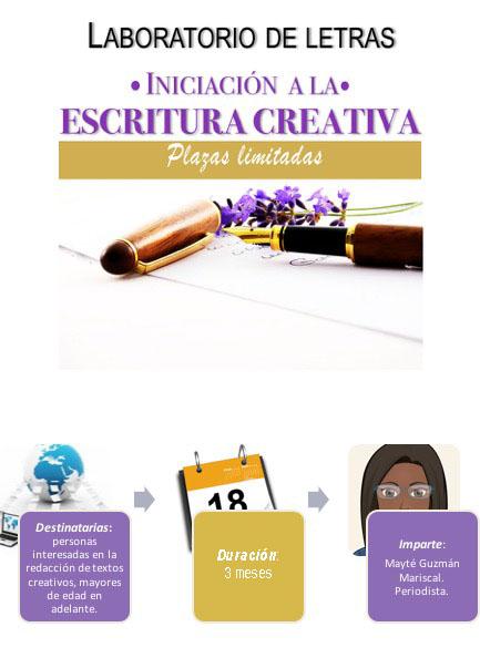 Taller de iniciación a la escritura creativa